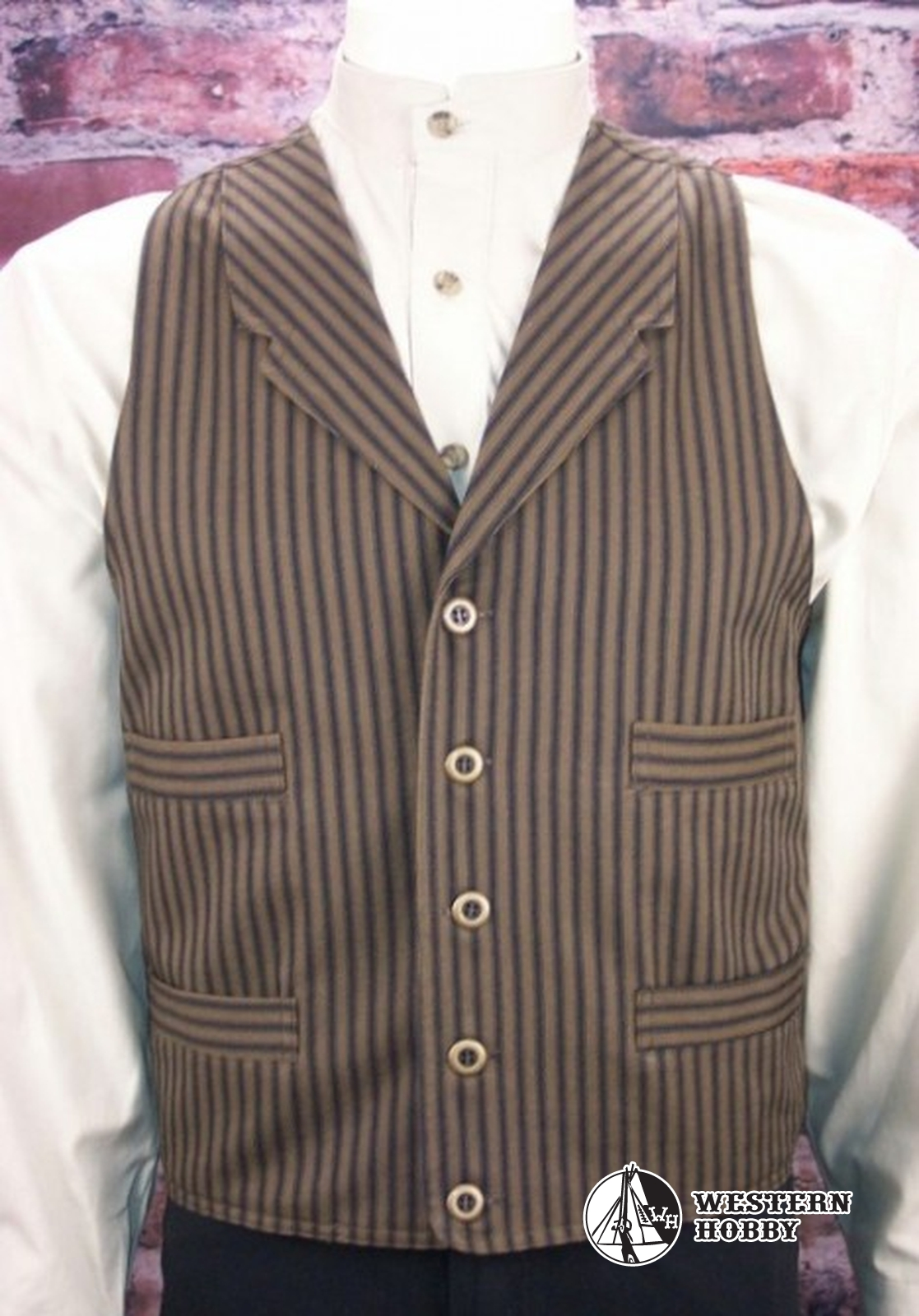 Vesta Outlaw Vest brown/navy stripe
